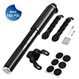 OUTAD Premium Bicycle Cycling Bike Tyre Repair Tool Kit Mini Bicycle Pump, Multi Function with Patch Kit & Tire Levers with Glueless Puncture Repair Kit and Tire Levers Frame Mount & Ball Needle,Compatible with both Presta and Schrader