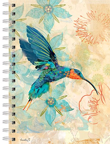 Lang Hummingbird of Sagrada Garden of Plumes Spiral Journal by Evelia Sowash (1350005) - Hummingbird Journal