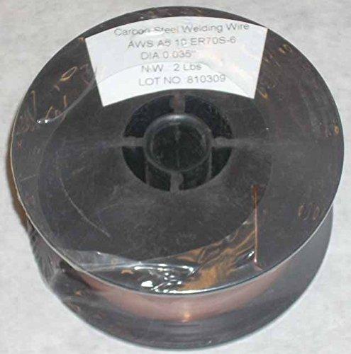 2 Rolls of ER70S-6 Mild Steel Mig Welding Wire 2lb Each .035 Diameter ()
