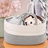 YOUDENOVA Baby Diaper Caddy Organizer, 100% Cotton