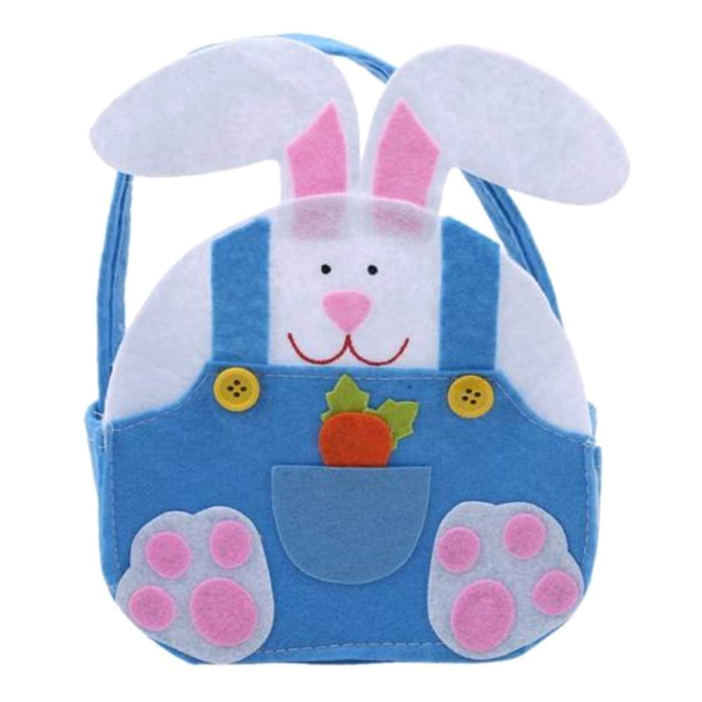Opopark Easter Supplies Bunny Gift Bags Rabbit Candy Bags Gifts(BL)