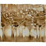 glass bird whistle - Deny Designs Bird Wanna Whistle Wine Glasses Fleece Throw Blanket, 60 x 80