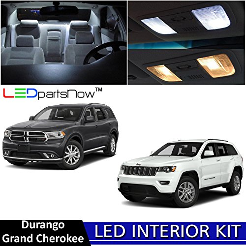 LEDpartsNow 2011-2018 Jeep Grand Cherokee & Dodge Durango LED Interior Lights Accessories Replacement Package Kit (15 Pieces), - Citadel The California