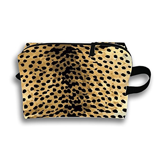 Cheetah Travel Cosmetic Bag Portable Makeup Pouch Pencil Holders