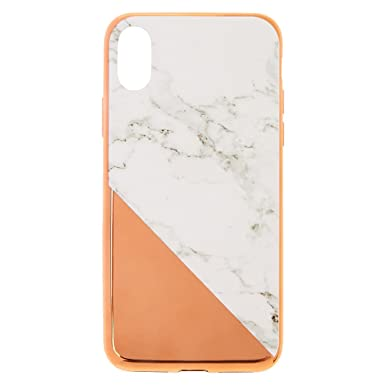 reputable site 7842f 90128 Claire's Girl's Metallic and Marble Phone Case Size iPhone X in Grey ...