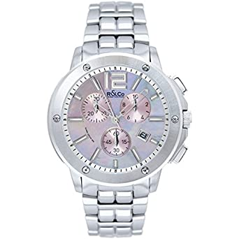 R&Co Damen - Armbanduhr Chronograph Quarz RLB00001-40-07
