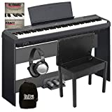 Youzee (US Stock) P-115 Digital Piano Black Complete Home Bundle