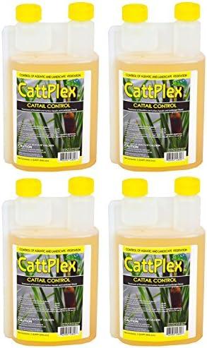 Sanco Catt Plex Glyphosate Aquatic Cattail 1 Quart Shoreline Herbicides, 4-Pack