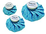 Relief Pak English Ice Cap Reusable Ice Bag for Cold Therapy - Bundle of 6'', 9'' and 11'' diameters