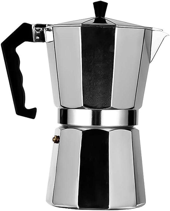 cluis Cafetera espresso de aluminio estilo italiano con ...