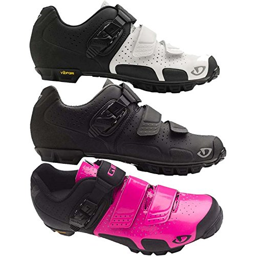 Giro GF23110 Womens Sica Vr70 Dirt Bike Shoes, Wht/Mat Blk - 37