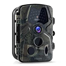 "Victure Trail Game Camera 1080P 12MP Wildlife Hunting Camera with 120 ° Wide Angle, 20m Night Vision Infrared, IP66 Waterproof Design, 2.4"" LCD Display for Wildlife Surveillance and Home Security"