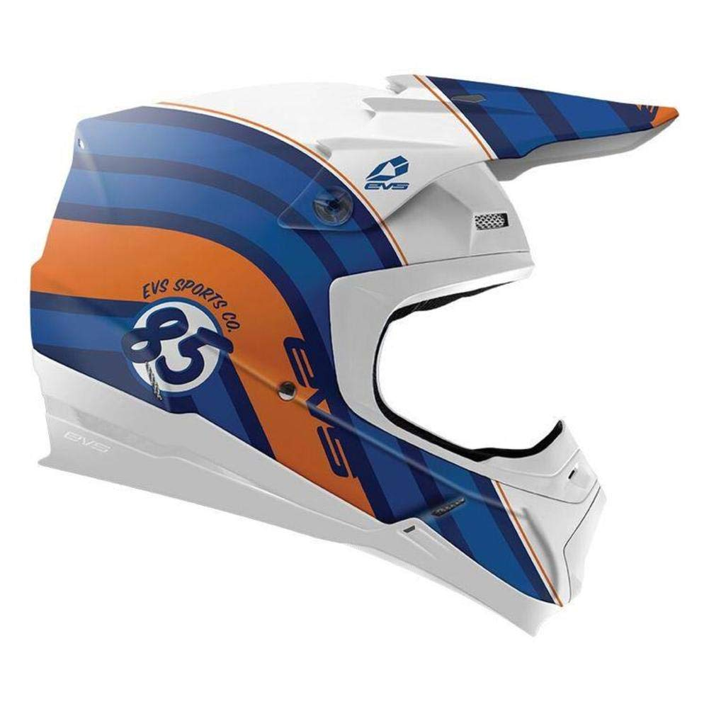 Dark Blue, Medium Cosmic EVS Sports unisex-adult off-road-helmet-style T5 Helmet
