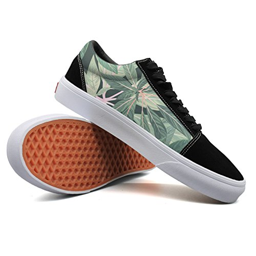 Keppel Teerd Men's Tropical Leaves Green Casual Flat Canvas