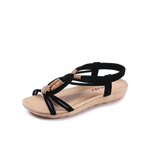 d9c90a6080676 Amazon.com  FUNOC Womens Ladies Summer Thong Sandals Flats Toe Post ...