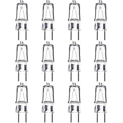 (Sunlite Series Q35/CL/GY8/120V/12PK Halogen 35W 120V Q35 Single Ended Capsule Light Bulbs, Clear Finish, 3200K Bright White GY8 Base, 12 Pack)