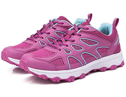Outdoor Femme Sneakers Pour Trekking Randonnée Les Et Chaussures De Gnediae H7802 Blanc Promenades Rose Basses fAxtwqPfv