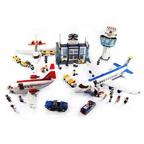 Aviation City Series Airport Cargo Terminal Private Jet Airplane Passenger plane Building Blocks Set Model 1400+pcs Educational DIY Construction Bricks Toys For Children