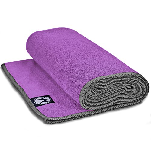 Youphoria 24-Inch-by-72-Inch Microfiber Yoga Towel, Purple Towel/Gray...