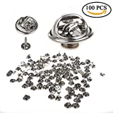 Tie Pin Backs, STARVAST Pin Back with Butterfly Clutch & Blank Pins for Tie Tacks, Badge Insignia, Citation Bars, Service Bars, Name Tags, Toy Pins and Jewelry Making, 100 (±3%) pairs