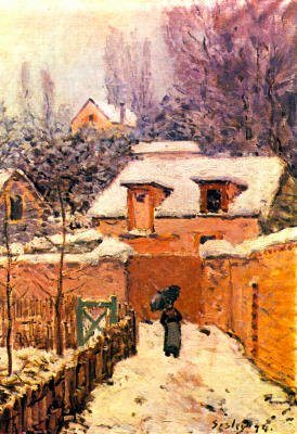 Alfred Sisley Garden in Louveciennes in Snow Art Print Poster - 13x19