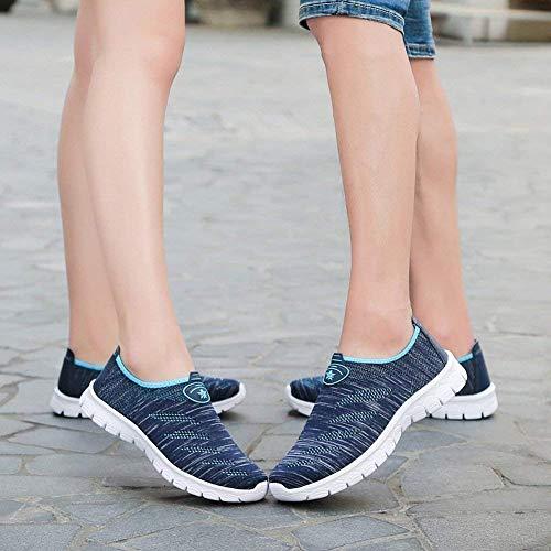 Couple Et Hommes Eu Mouche Chaussures Taille Oudan 40 Tissage Décontractées Pieds Aqua Asche Légères Respirantes Femmes coloré De Sport aqYxxRw