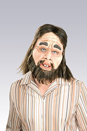 Deluxe Funny Caveman Mask - Deluxe Adult Caveman Costumes