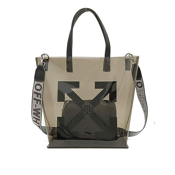 df7e5b1f17 AFCITY Womens Handbags Women s Transparent PVC PU Waterproof Enough Space Tote  Bag Crossbody Shoulder Bag For Work Shopping Travel Daily Purses Satchel ...