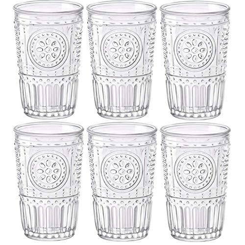 mioli Rocco Romantic Juego de 6 Vasos 30,5 cl, Cristal Transparente, 8 x 8 x 12,5 c
