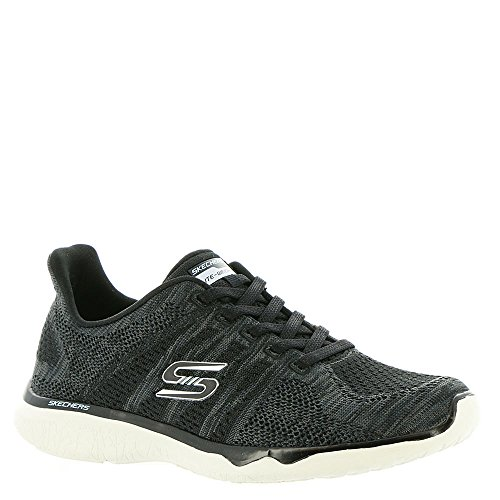 Black Virtual Sport Women's Sneaker Skechers Fashion Bkw Studio Reality Burst xSqg7wf