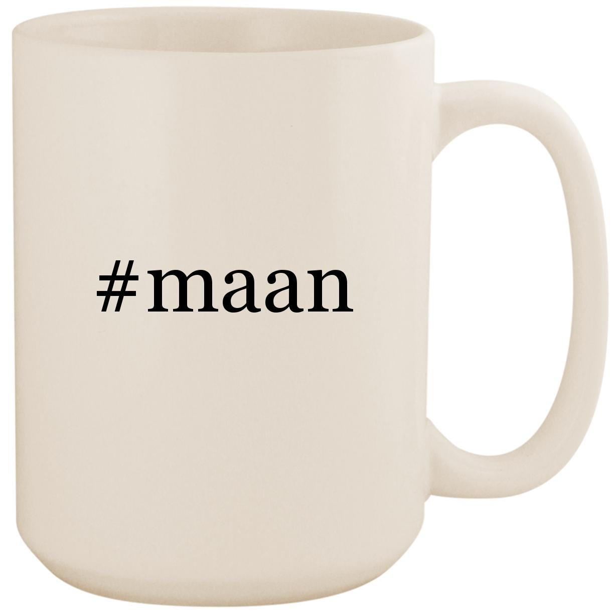 #maan - White Hashtag 15oz Ceramic Coffee Mug Cup by Molandra Products
