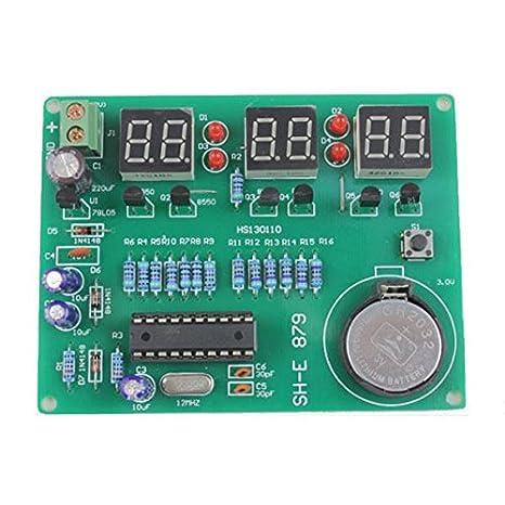 6 Reloj de piezas del kit DIY LED electrónicos digitales Componentes 9V- 12V AT89C2051: Amazon.es: Hogar