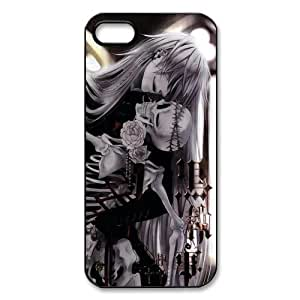 Black Butler Kuroshitsuji Custom Printed Design Durable Case Cover for Iphone 5 5S Kimberly Kurzendoerfer