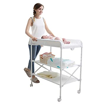 Amazon.: QZ White Changing Tables for Small Spaces and
