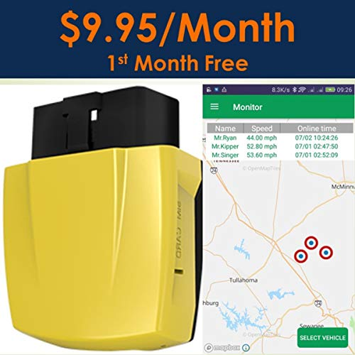 Spectrum Smart: 4G OBD II GPS Tracker, Driving Monitor for Teens Safety, Fleet Tracking Device, Car Tracking, Worldwide Coverage of U.S. Territory, Canada, Mexico, and 120+ Countries, One Month Free