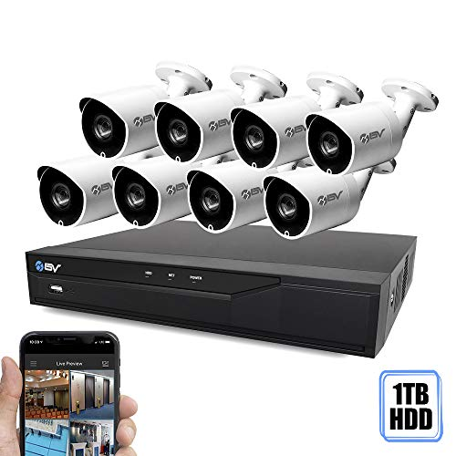 n-1 HD DVR Security Camera System (1TB HDD), 8pcs 2MP High Definition Outdoor Cameras with Night Vision - DIY Kit, App for Smartphone Remote Monitoring ()