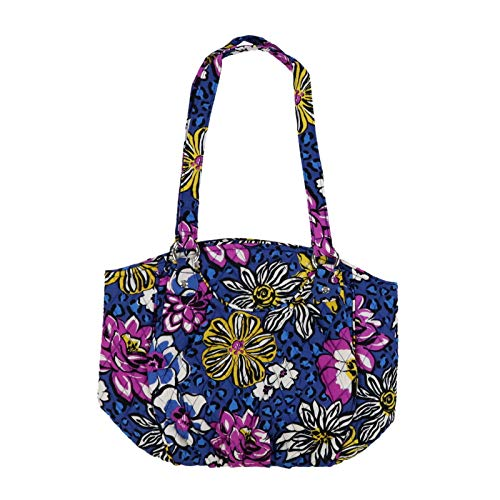 Vera Bradley Violet Cotton Bag Shoulder Signature African Glenna rRqaBnwr