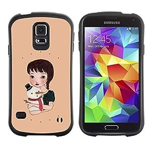 """Hypernova Slim Fit Dual Barniz Protector Caso Case Funda Para Samsung Galaxy S5 [Muñeco de nieve del invierno melocotón dulce Vacaciones""""]"""