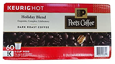 Peet's Coffee Holiday Blend Limited Edition K Cup Coffee for Keurig K-Cup Brewers 60 count