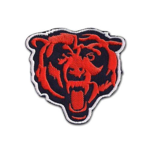 NFL Chicago Bear Head Logo EMBROIDERED PATCH Badge Iron-on, Sew On - Shipped From ()