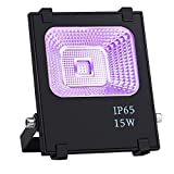 Outdoor LED Blacklight, OPPSK 15W UV LED Flood Light Glow in The Dark Party Supplies for Outdoor Blacklight Party Birthday Wedding Stage Lighting IP65-Waterproof