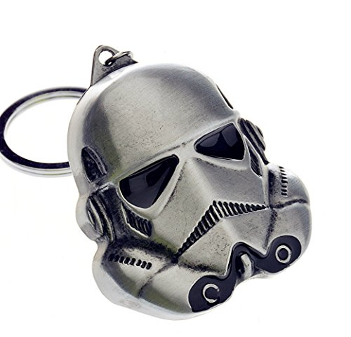Star Wars Imperial Storm Trooper Pewter Keychain Keyring with Giftbox