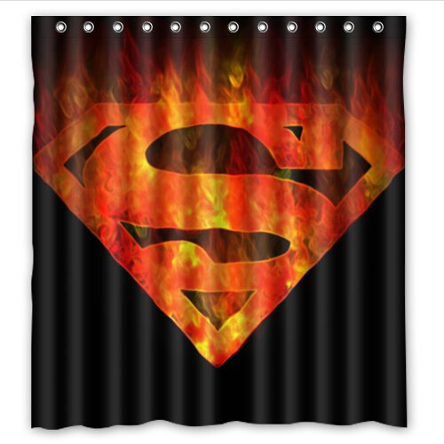 Ordinaire Custom Superman Pattern Design Waterproof Bathroom Shower Curtain Polyester  Fabric Shower Curtain Size 66 X 72