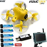 New Inductrix FPV RTF Mini Quadcopter Ready to Fly with 4.3 FPV Monitor & 4x Lipo Batteries (Complete kit) BLH8500