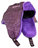 Weatherproof Aviator Hat for Girls - Ear Flaps, Plush Fleece Lining - One Size 7-16 (Purple)