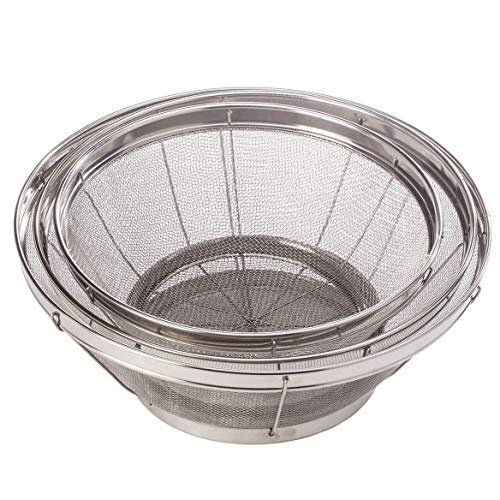 Home Marketplace Set/3 Stainless Steel Mesh Colanders by Miles Kimball
