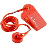 Relefree® Universal Sports Running Machine Safety Safe Key Treadmill Magnetic Security Round Switch Lock Fitness Red Useful New