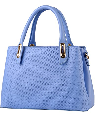 Womens Purple Handle Sky Menschwear Bags Satchel Top Leather blue PU ZWwd0q41R