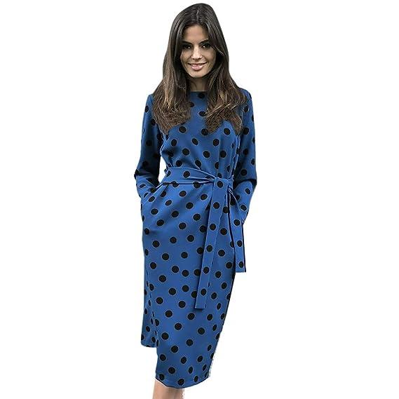Vestido Largo Casual para Mujer Primavera Invierno 2019 e4d43b439313