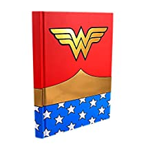 DC Comics Silver Buffalo WW0150 Wonder Woman Uniform Hard Cover Journal with Ribbon Book Mark, 160-Pages, 6 in. x 8 in